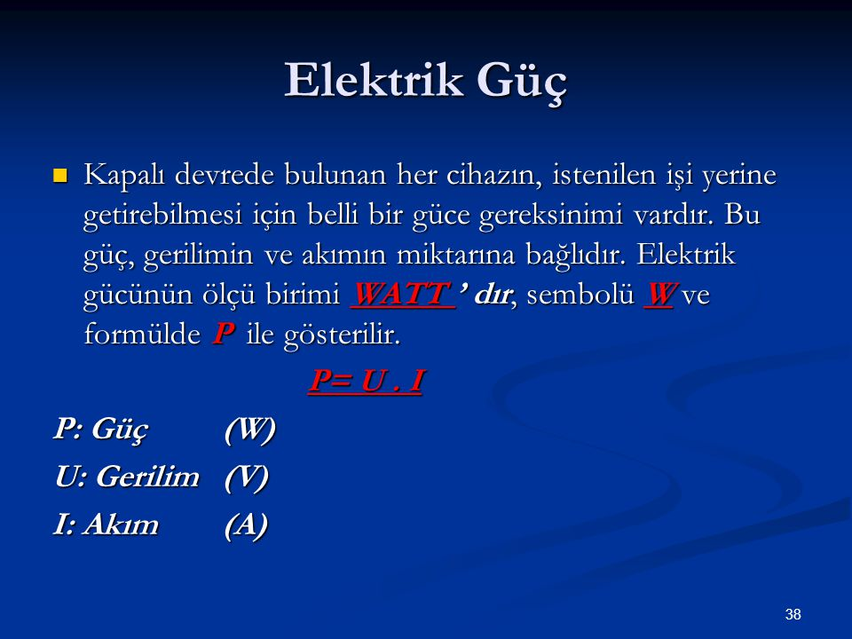 Elektrik Güç