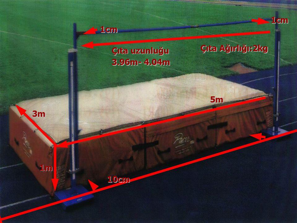 1cm 1cm Çıta Ağırlığı:2kg Çıta uzunluğu 3.96m- 4.04m 5m 3m 1m 10cm