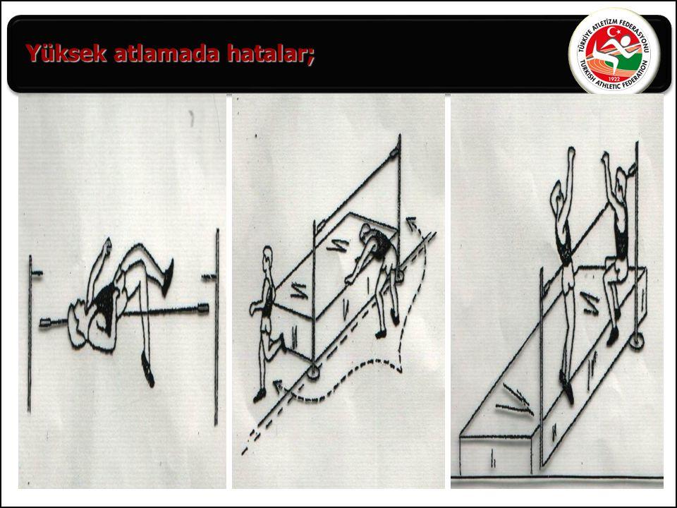 Yüksek atlamada hatalar;