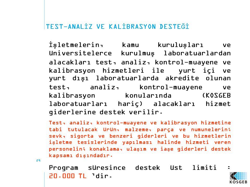 TEST-ANALİZ VE KALİBRASYON DESTEĞİ