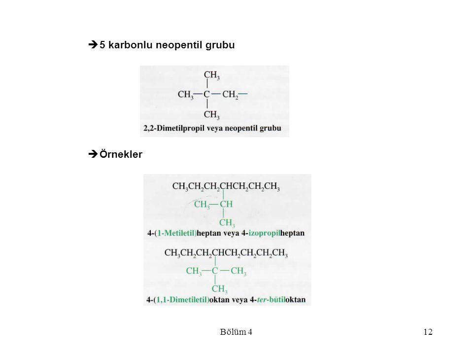 5 karbonlu neopentil grubu