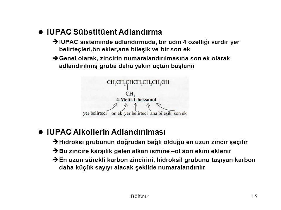 IUPAC Sübstitüent Adlandırma