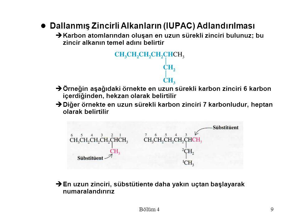 Dallanmış Zincirli Alkanların (IUPAC) Adlandırılması