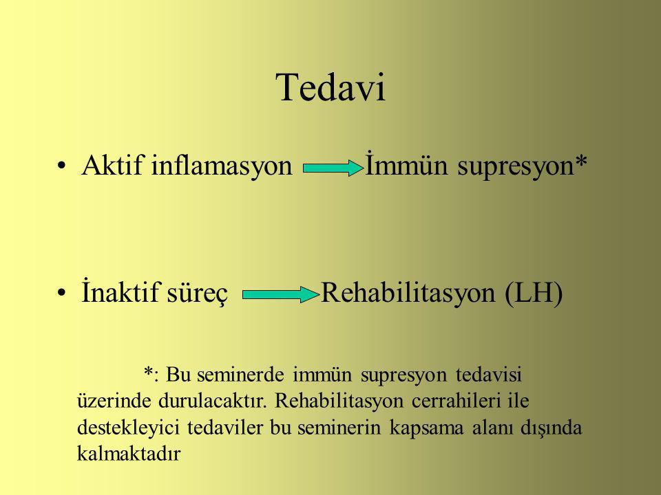 Tedavi Aktif inflamasyon İmmün supresyon*