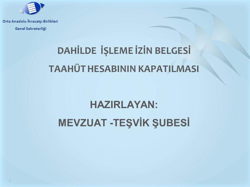 Orta Anadolu İhracatçı Birlikleri