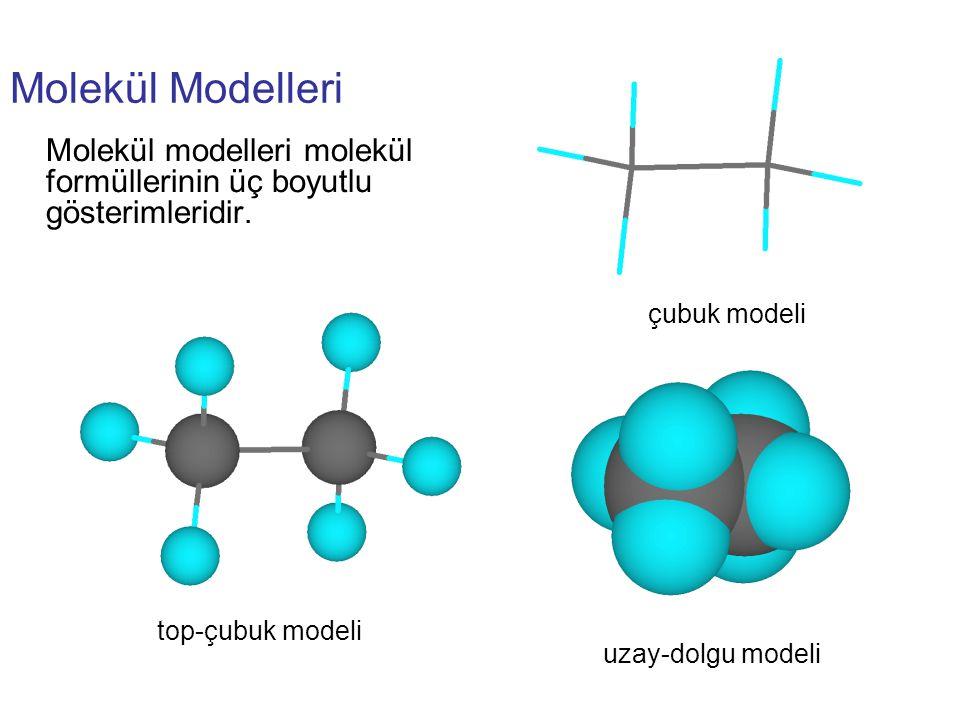 top-çubuk modeli uzay-dolgu modeli. çubuk modeli.