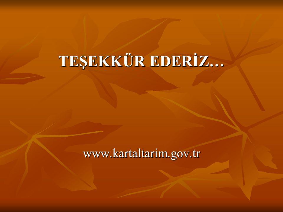 TEŞEKKÜR EDERİZ… www.kartaltarim.gov.tr