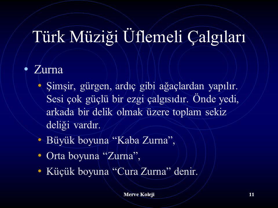 Türk Müziği Üflemeli Çalgıları