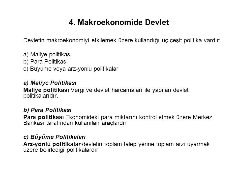 4. Makroekonomide Devlet