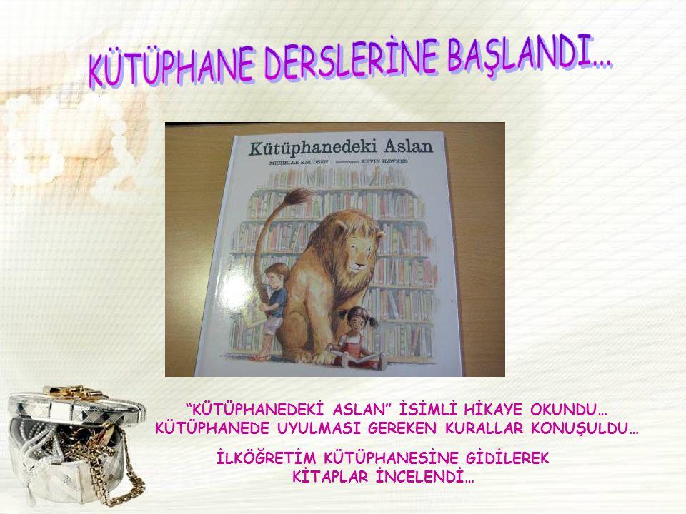 KÜTÜPHANE DERSLERİNE BAŞLANDI...