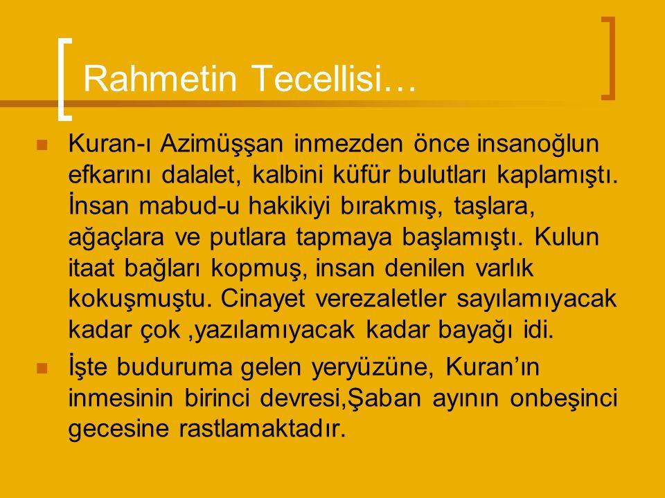 Rahmetin Tecellisi…
