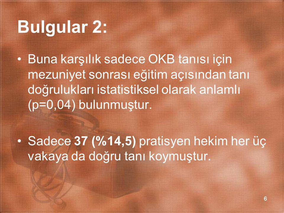 Bulgular 2: