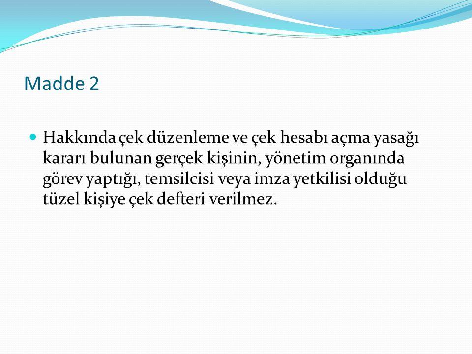 Madde 2