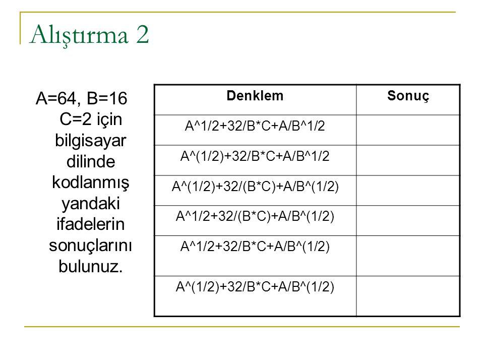 A^(1/2)+32/(B*C)+A/B^(1/2)