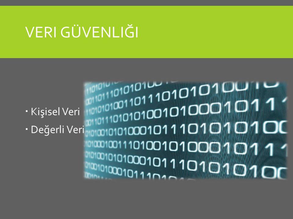 Veri Güvenliği Kişisel Veri Değerli Veri
