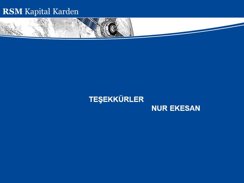 RSM Kapital Karden TEŞEKKÜRLER NUR EKESAN