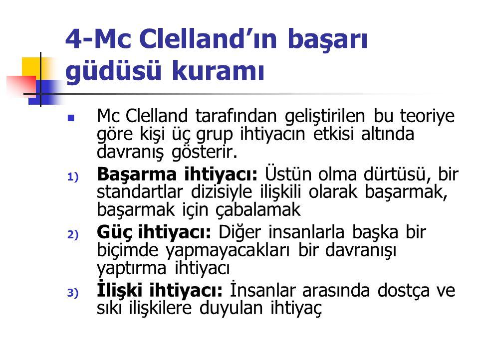4-Mc Clelland'ın başarı güdüsü kuramı