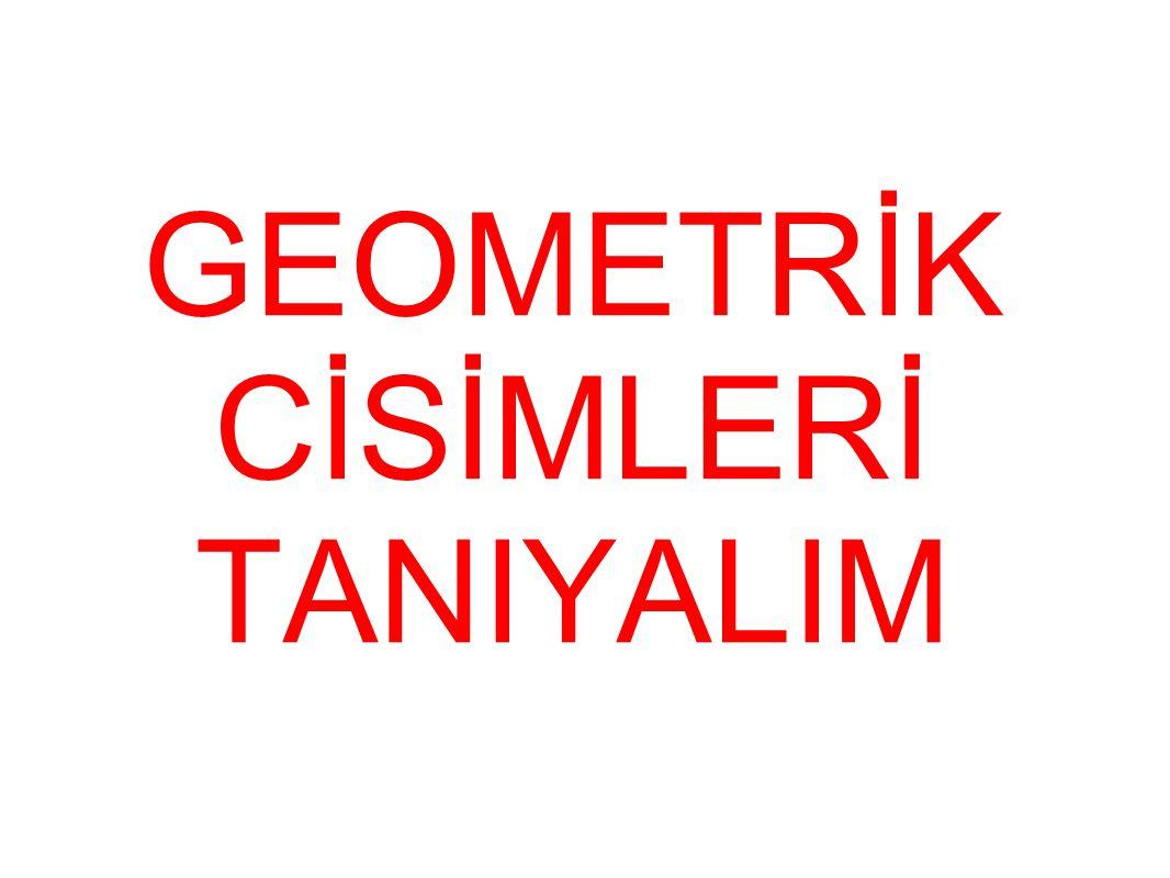 GEOMETRİK CİSİMLERİ TANIYALIM
