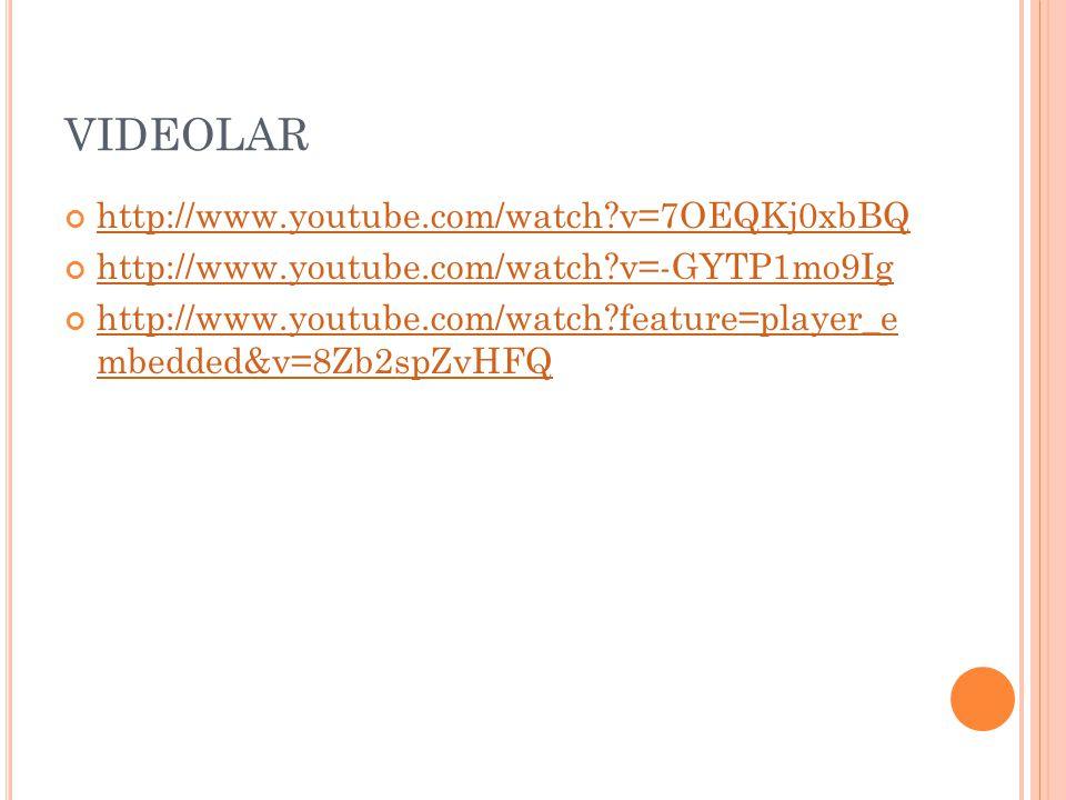 VIDEOLAR http://www.youtube.com/watch v=7OEQKj0xbBQ