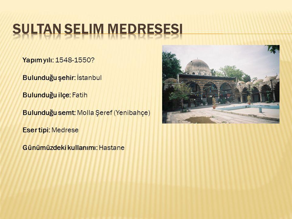Sultan Selim Medresesi