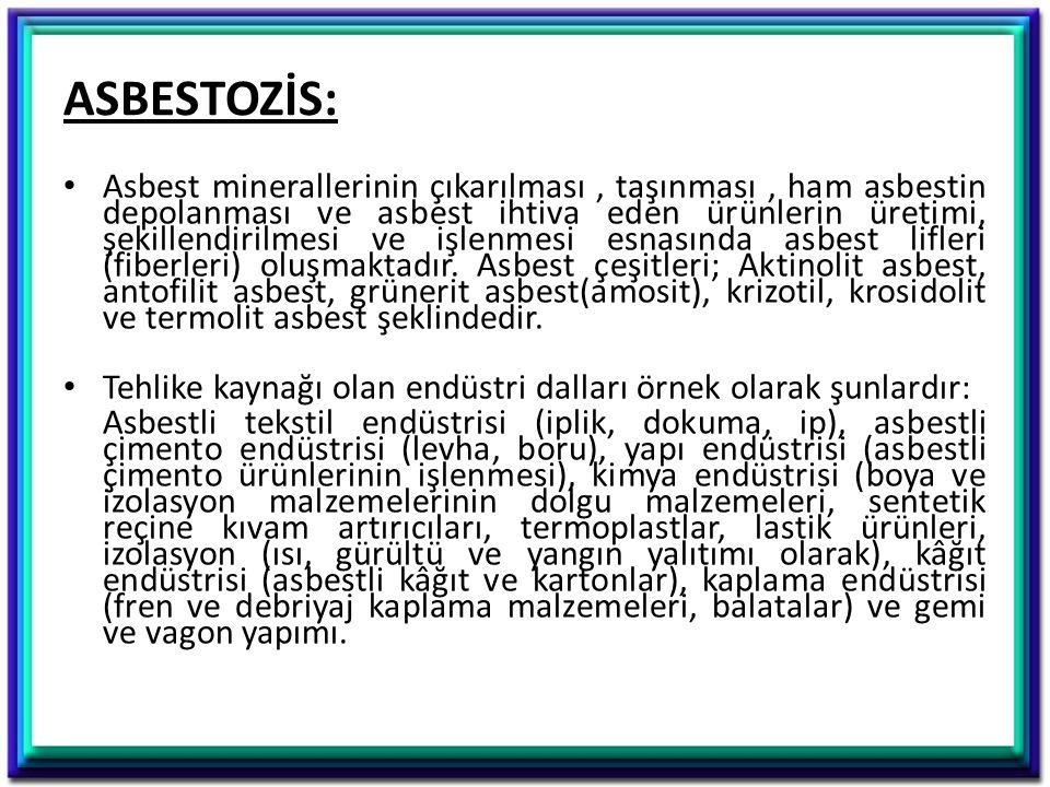 ASBESTOZİS: