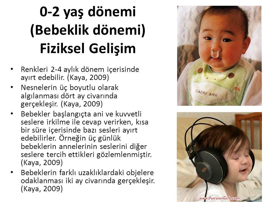 0-2 yaş dönemi (Bebeklik dönemi) Fiziksel Gelişim