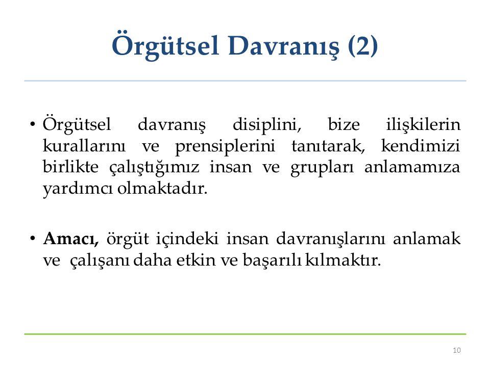 Örgütsel Davranış (2)