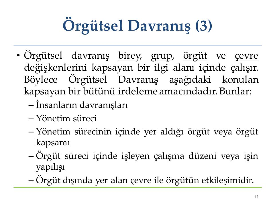 Örgütsel Davranış (3)