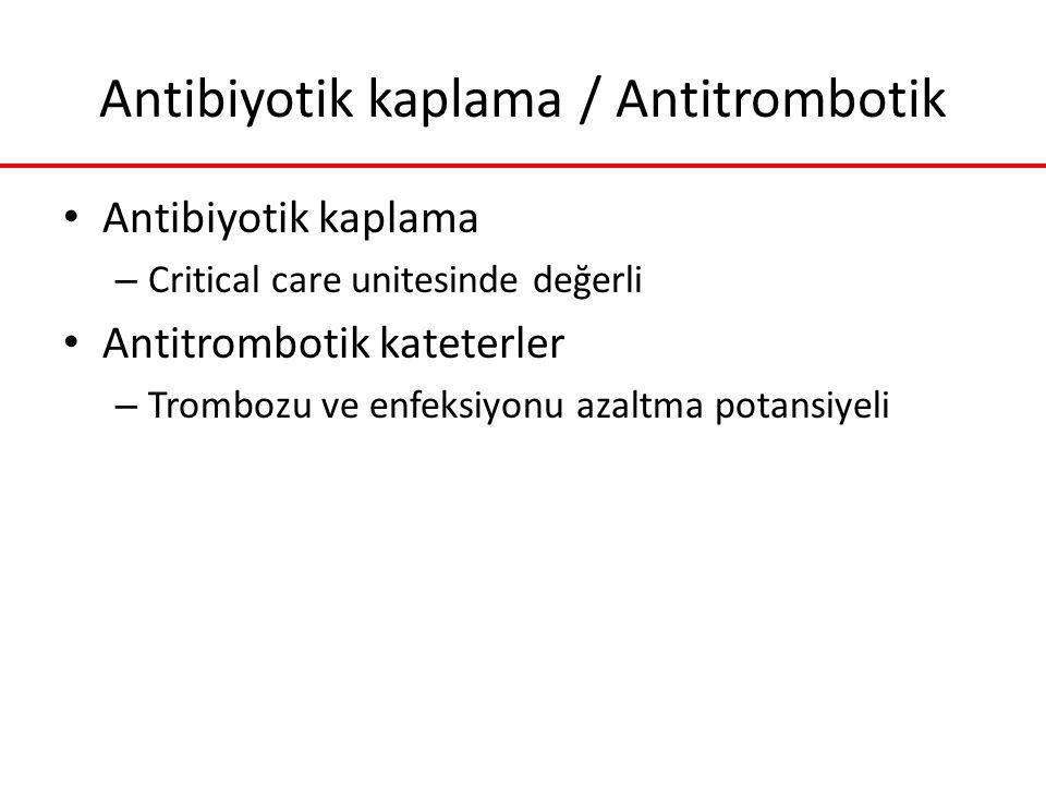 Antibiyotik kaplama / Antitrombotik