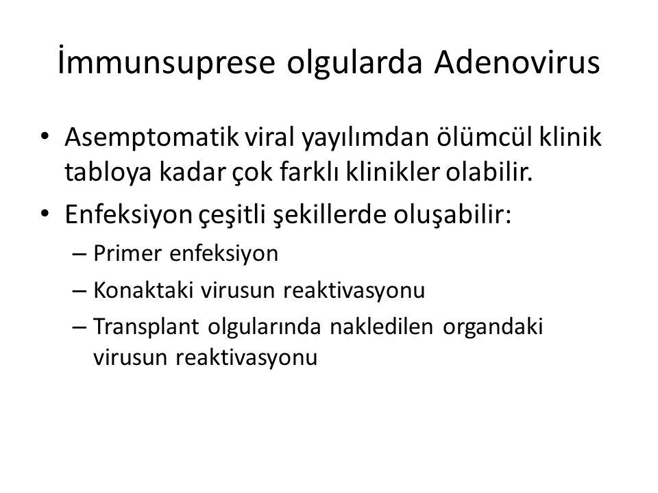 İmmunsuprese olgularda Adenovirus