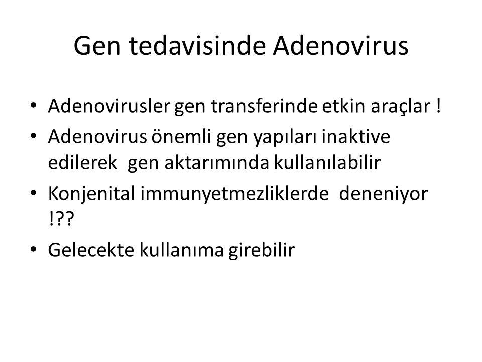 Gen tedavisinde Adenovirus