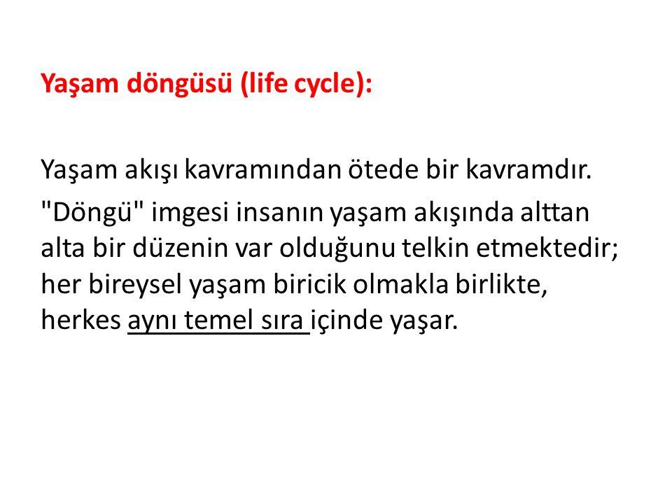 Yaşam döngüsü (life cycle): Yaşam akışı kavramından ötede bir kavramdır.