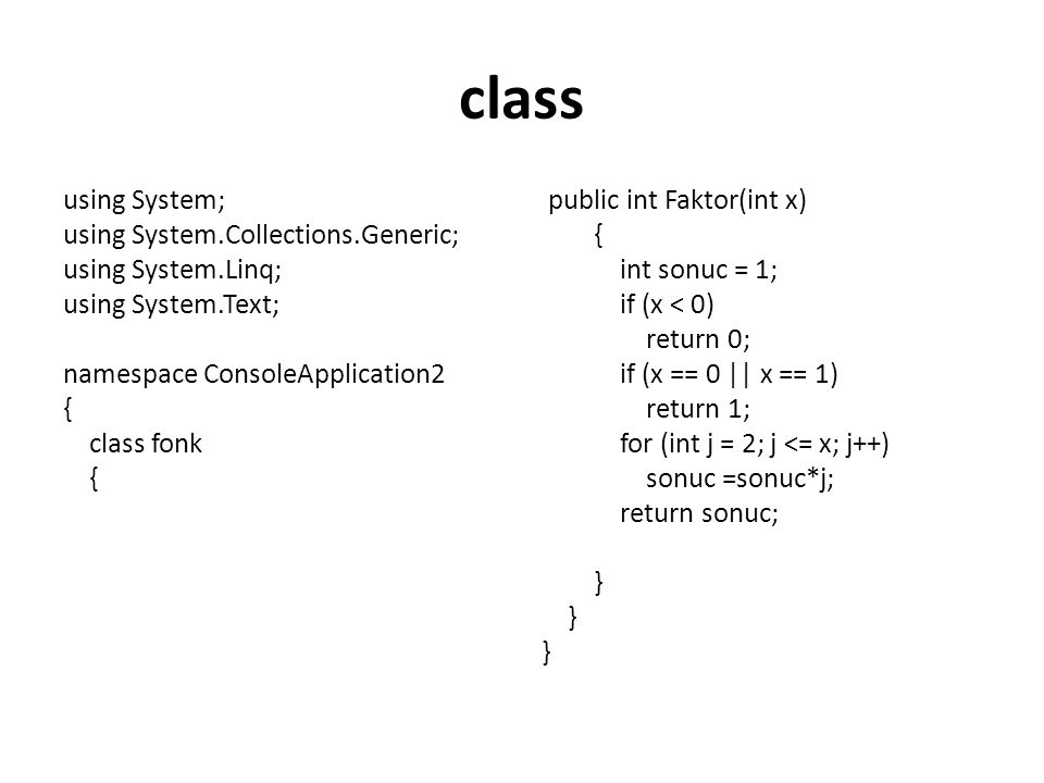 class using System; using System.Collections.Generic;