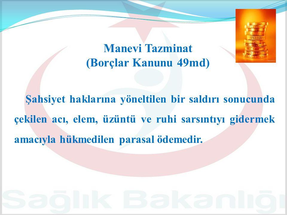 Manevi Tazminat (Borçlar Kanunu 49md)