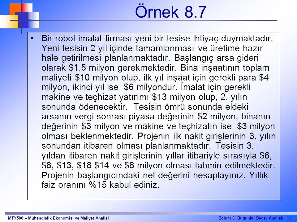 Örnek 8.7
