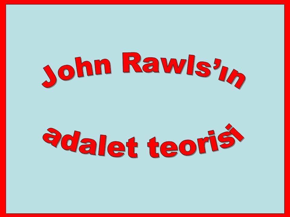 John Rawls'ın adalet teorisi