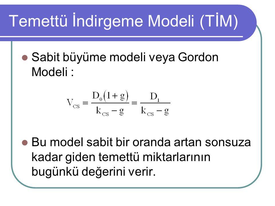 Temettü İndirgeme Modeli (TİM)