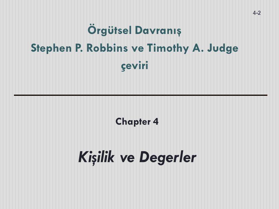 Örgütsel Davranış Stephen P. Robbins ve Timothy A. Judge çeviri