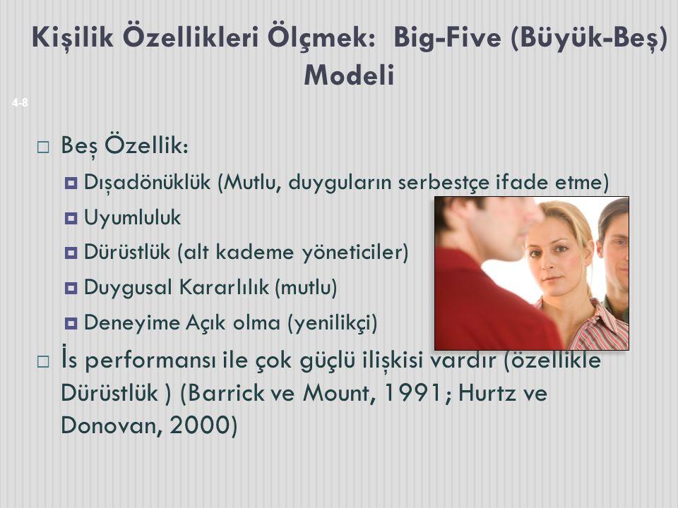 Kişilik Özellikleri Ölçmek: Big-Five (Büyük-Beş) Modeli