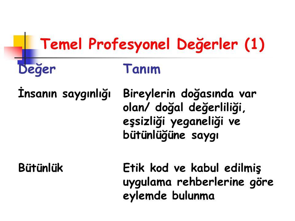 Temel Profesyonel Değerler (1)