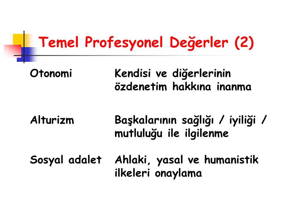 Temel Profesyonel Değerler (2)