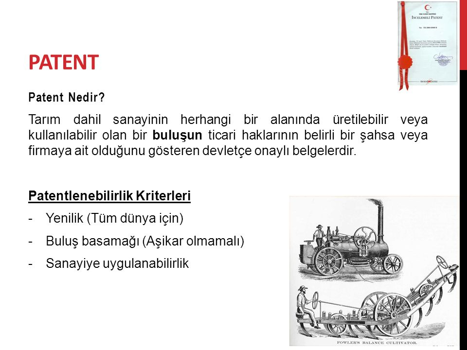 PATENT Patent Nedir