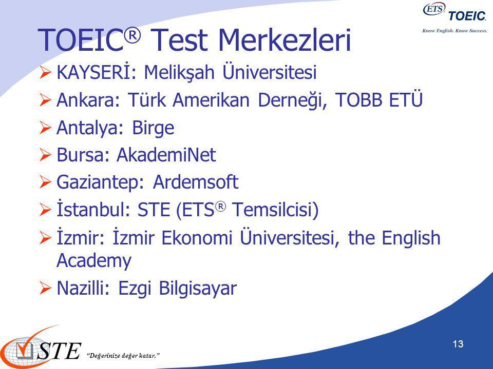 TOEIC® Test Merkezleri