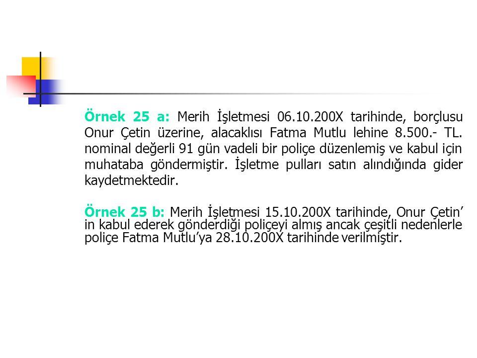 Örnek 25 a: Merih İşletmesi 06. 10