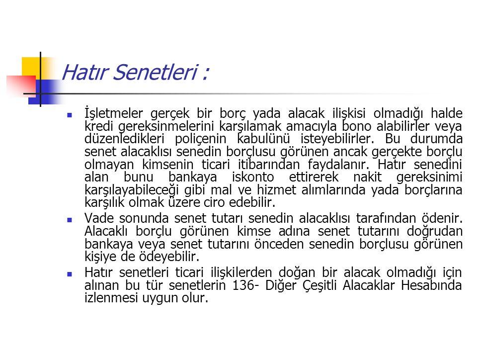 Hatır Senetleri :