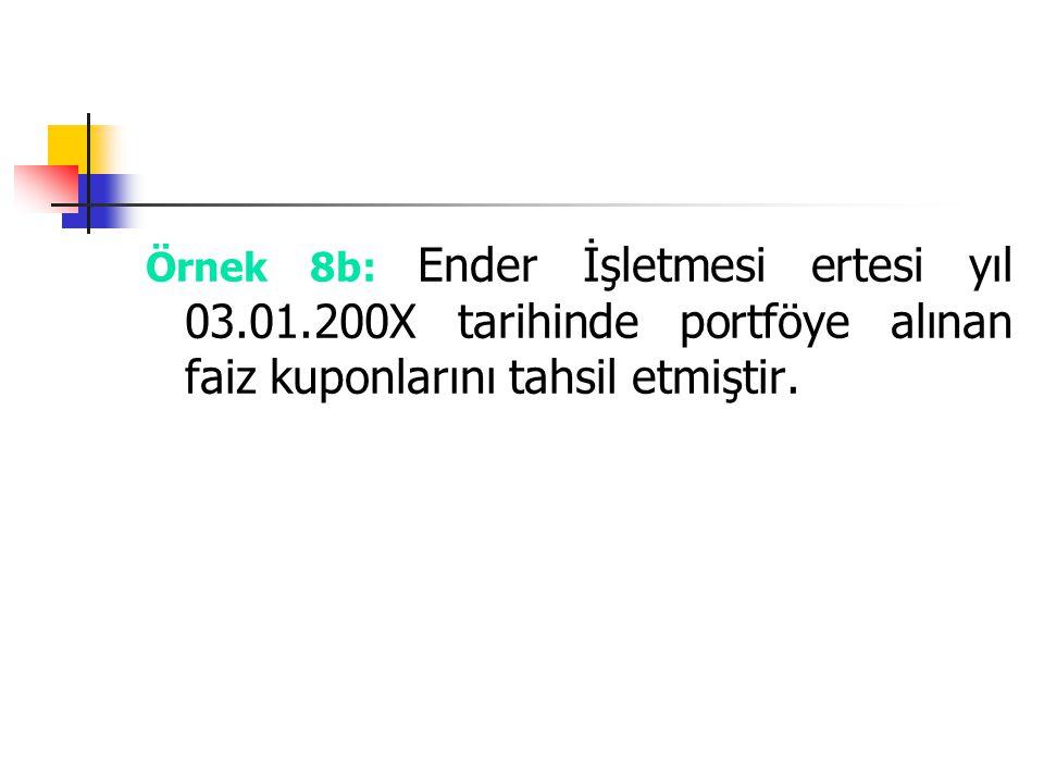 Örnek 8b: Ender İşletmesi ertesi yıl 03. 01