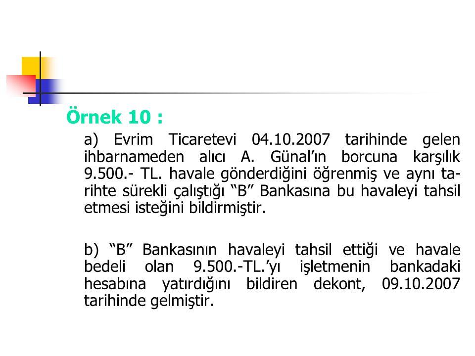 Örnek 10 :