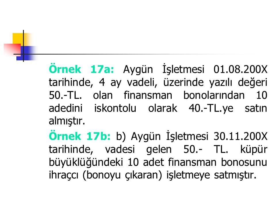 Örnek 17a: Aygün İşletmesi 01. 08