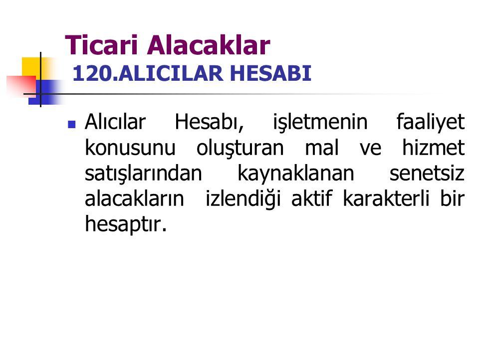 Ticari Alacaklar 120.ALICILAR HESABI