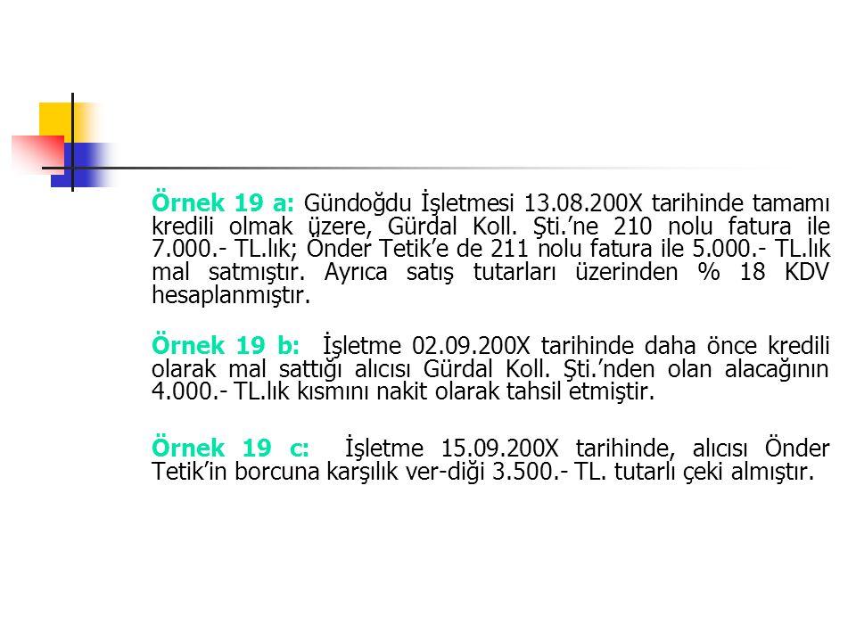 Örnek 19 a: Gündoğdu İşletmesi 13. 08